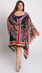 Roberta Scarf Print Dress