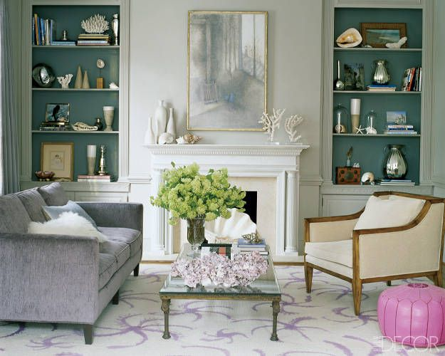 Well-displayed curiosities add a beachy vibe to the Washington, D.C., home of actress-writer Alexandra Wentworth and news anchor George Stephanopoulos. ELLEDecor.com