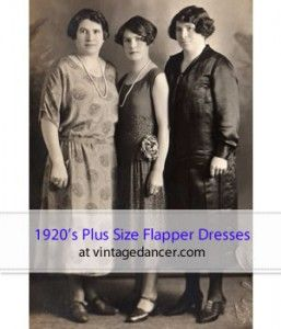 These lovely ladies are showing off their classy 1920's dresses. Who says flappers have to be skinny? http://www.vintagedancer.com/1920s/1920s-plus-size-fashion-history/