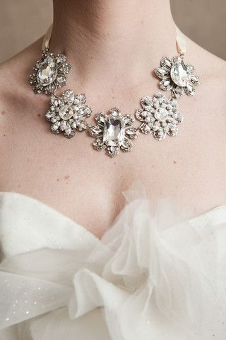 Happily Ever BorroWED RENTS bridal accessories to brides!    Carrie B Necklace - Enchanted Atelier - $55      http://www.happilyeverborrowed.com #wedding #necklace #jewelry