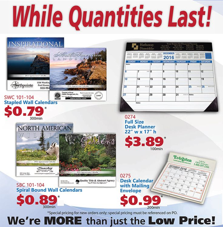 CPS/Keystone asi 43051: 2017 Calendars While They Last!