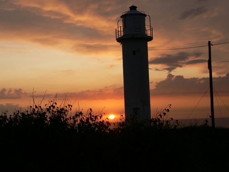 Leuchtturm Varberg beim Sonnenuntergang