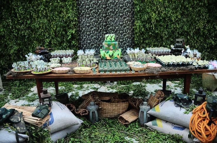 Festa de Criança - Recife: Festa Tema Exército