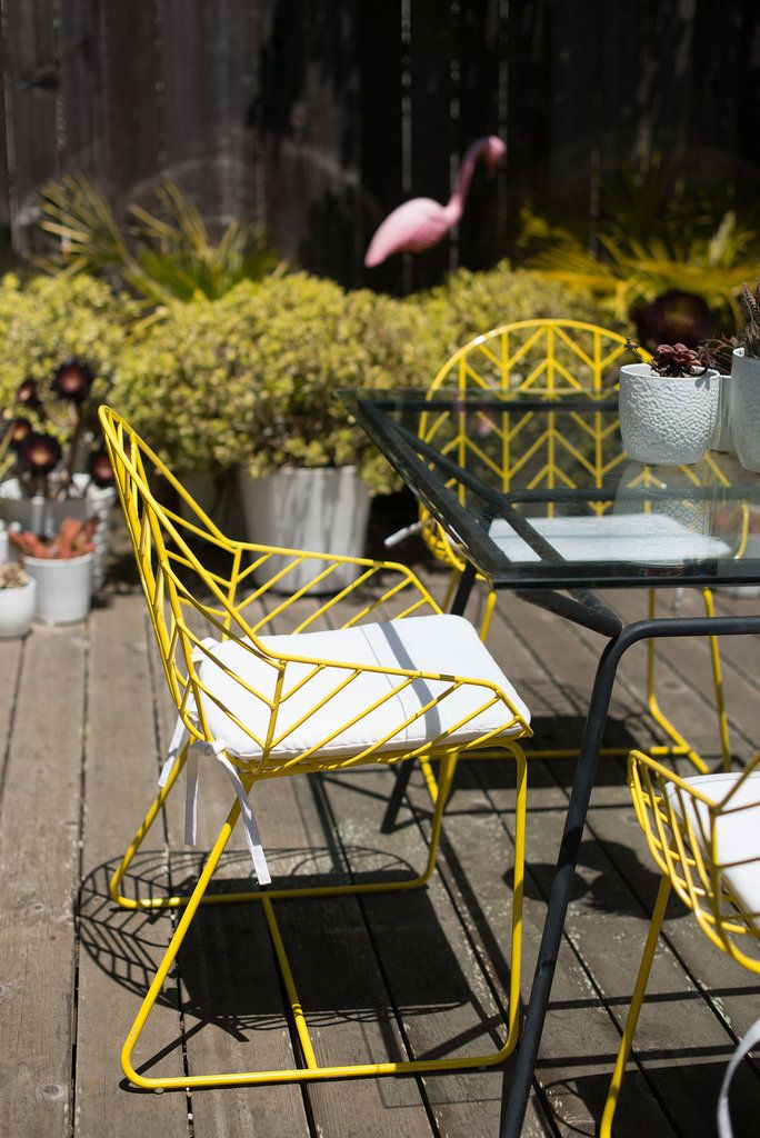 Bright outdoor dining chairs