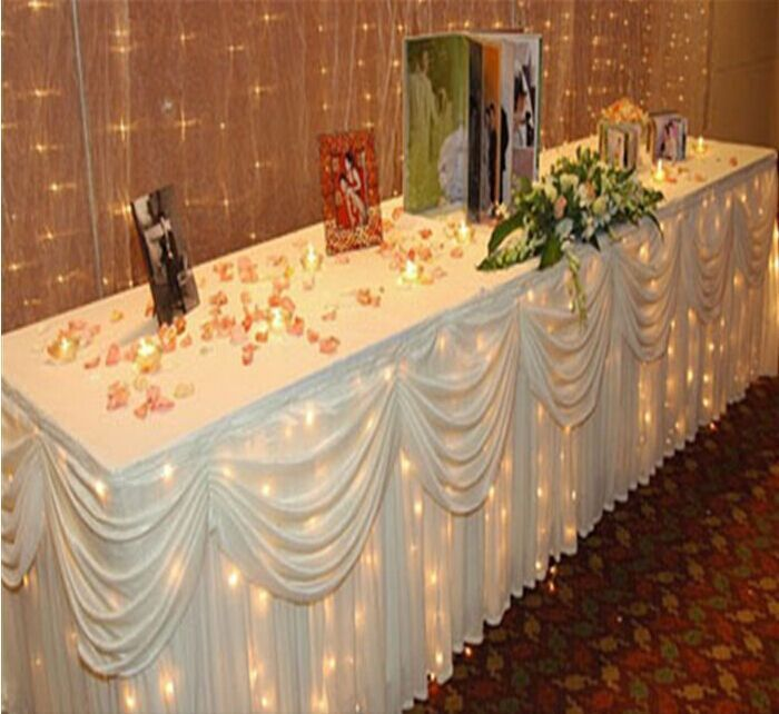 33 Best Underpinning Ideas Images On Pinterest: Tablecloth Decorations, Candy Table Decorations