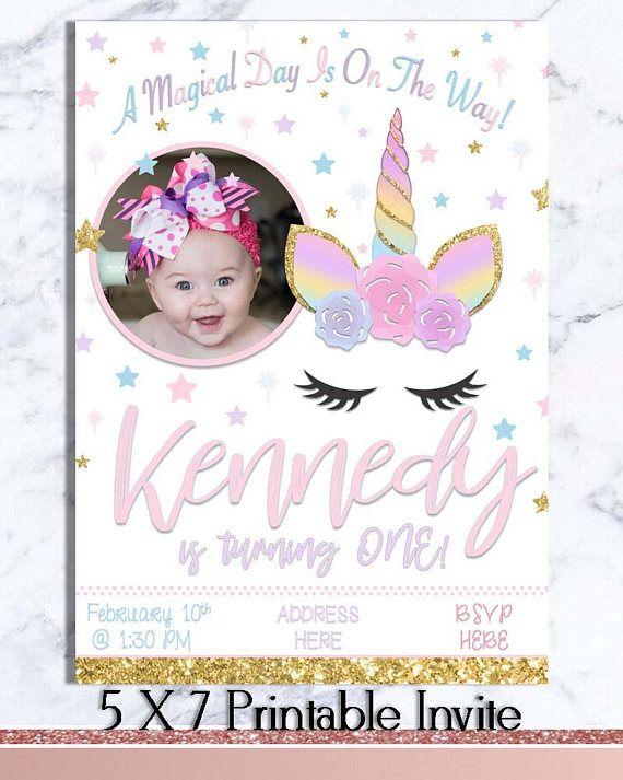 Unicorn Party Theme Party Decor Printable Unicorn Birthday Etsy Unicorn Theme Party Printable Unicorn Birthday Birthday Party Set