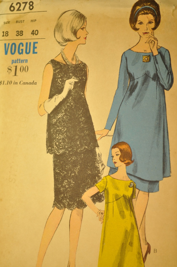 509 best vintage maternity patterns images on pinterest maternity dress tunic over blouse and skirt size 18 vintage sewing pattern vogue 6278 ombrellifo Gallery