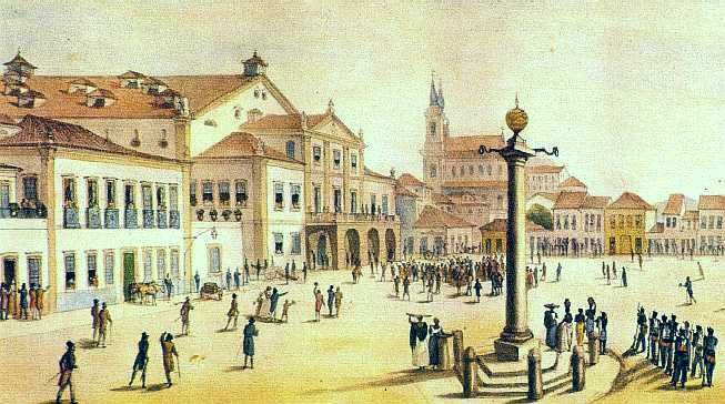 RealTeatroSJoao-Debret-1834 - Pelourinho – Wikipédia, a enciclopédia livre