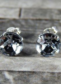 Aros de circón cristal sombra de plata