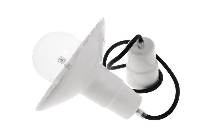 Ceramic lamps by Inżynieria Designu  Loft with Folk - white. www.inzynieriadesignu.pl  100 % hande made