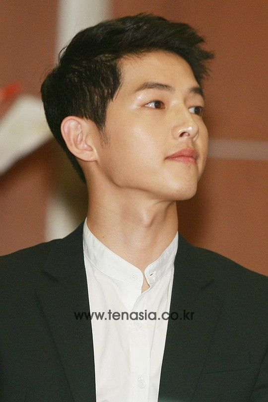150810 || Song Joong Ki 송중기 at FC SMILE launch ceremony. His charisma is very different now :)