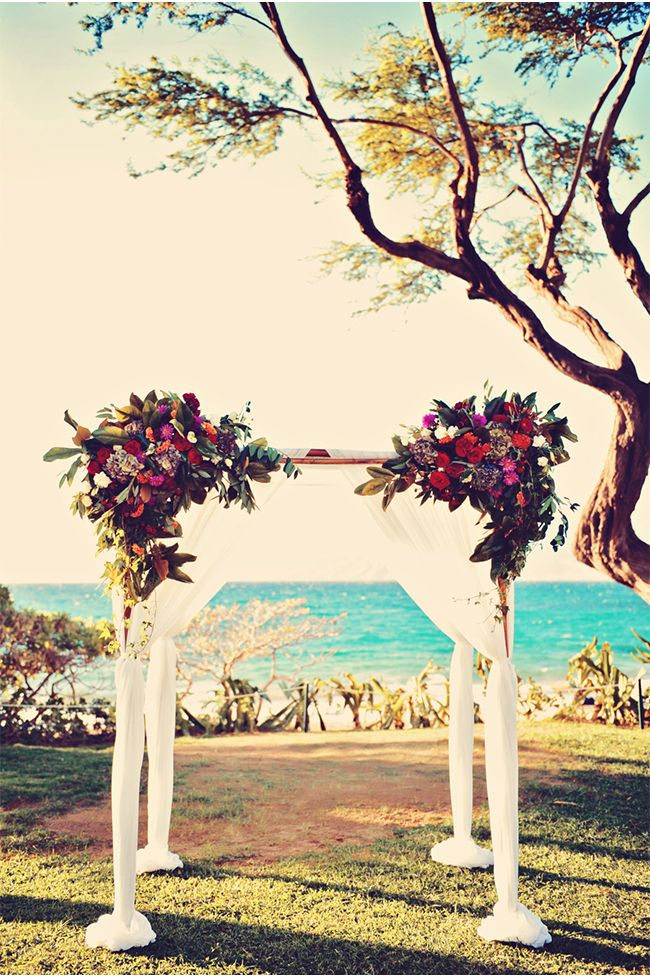 imagine saying your vows here via StyleUnveiled.com / Andaz Maui at Wailea / Jewel Toned Wedding Ideas / Tamiz Photography