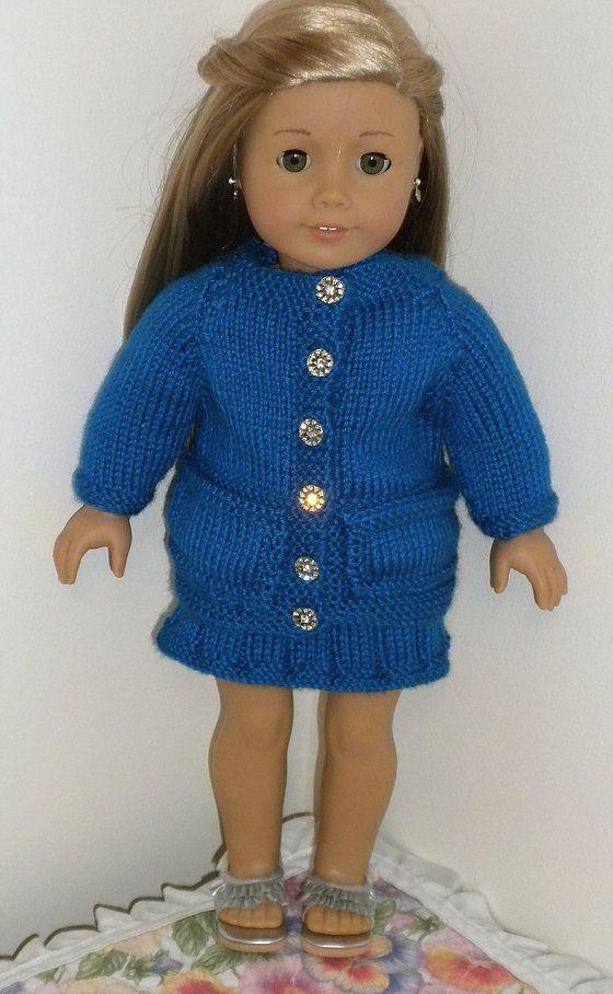 dollie-clothes | Blue cardigan and skirt AMG | dolls, dolls, dolls ...
