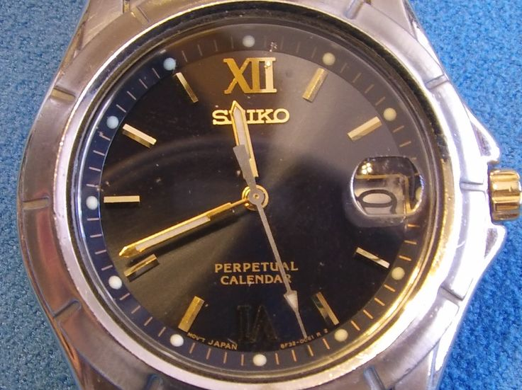 Seiko Perpetual Calendar watch.  Its 15 years old and all beat up but still working great!  #Seiko #watch #timepiece