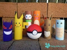 Pokemon Toilet Paper Roll Craft Check out these Pokemon toilet roll craft that your kids can make to play Pokemon Go :)