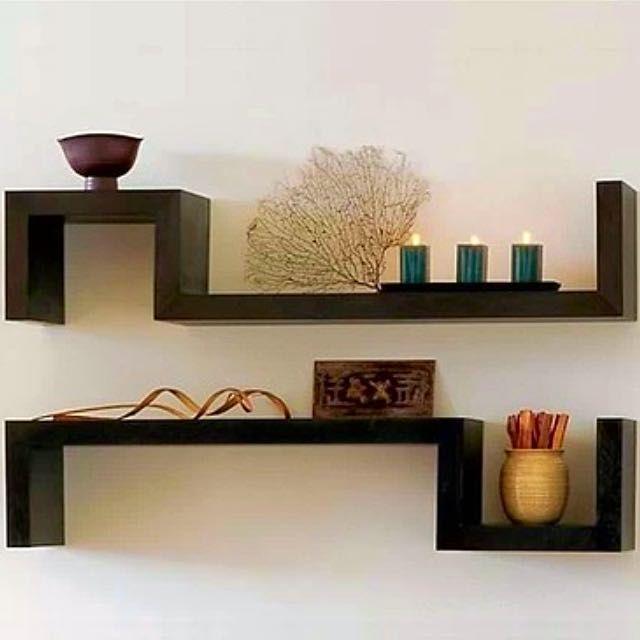 bn s shape decorative wall shelf - Decorative Wall Shelf