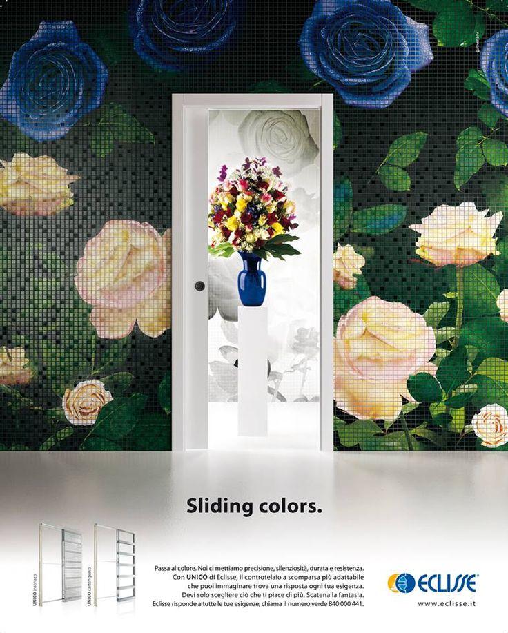 """Sliding colors - Unico este sistemul care permite culisarea unui singur panou de usa. """"Recupereaza spatiu si imbunatateste functionalitatea ambientului."""""""