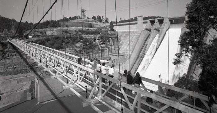 Warragamba Dam History and Tours. Suspension bridge
