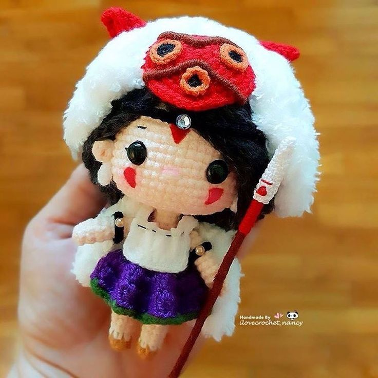 "Hello! Meet San, the adorable  and sweet version of Princess Mononoke 可爱美美哒的 ""幽灵公主""  ٩(๑•◡-๑)۶ⒽⓤⒼ"