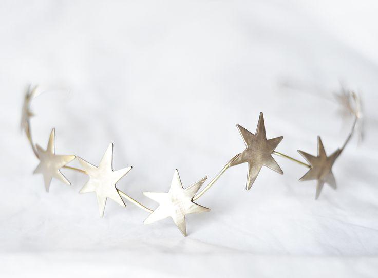Celestial bridal Crown / stars burst Crown / constellation headpiece / @orchideedesoie www.orchideedesoie.com