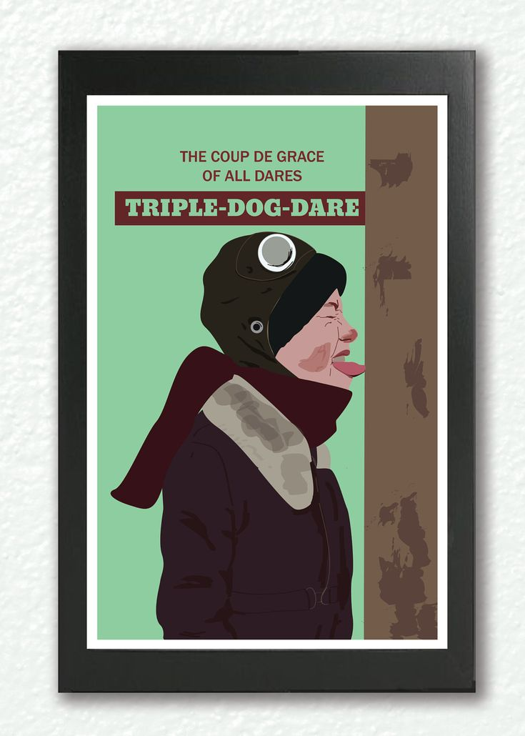A christmas story print classic movie poster triple dog