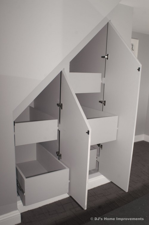 great use of space! I'm thinking under the basement stairs.