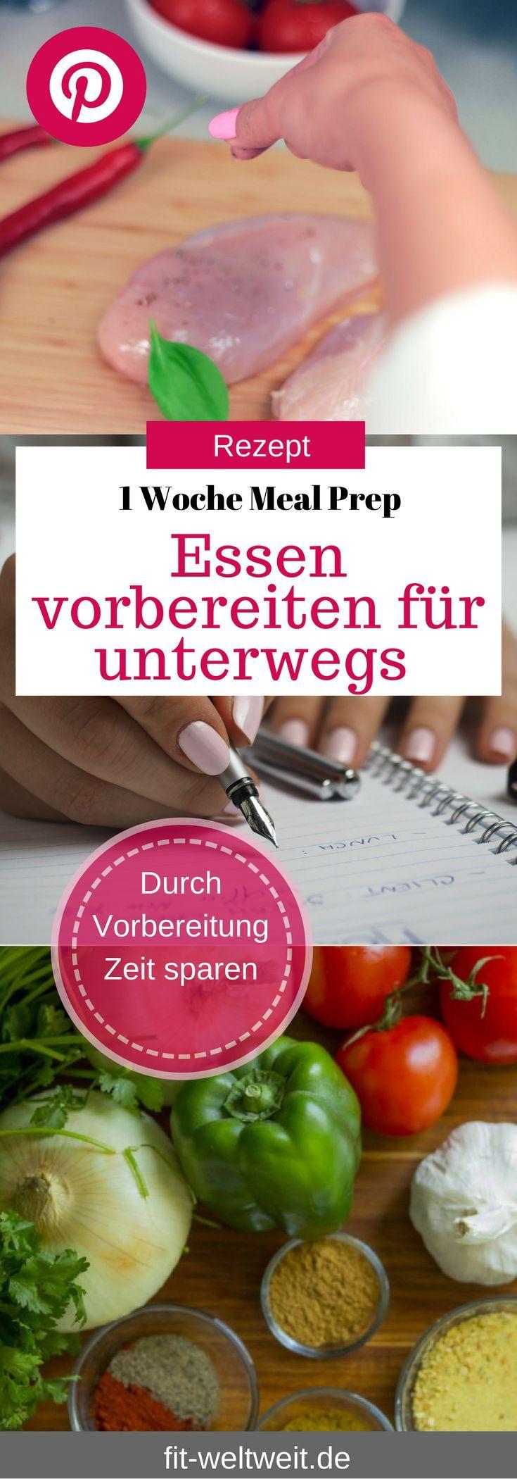Sem tempo para comer: Instruções para uma semana MEAL PREP   – Gesund und fit im Büro