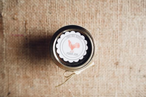 handmade jam favors | Mark Elkins #wedding