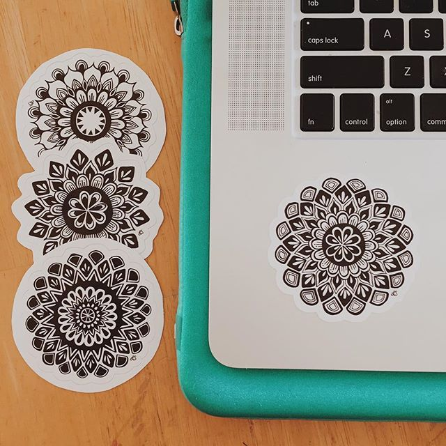 Bring a little peace and serenity to your tech with mandala stickers these eastern designs