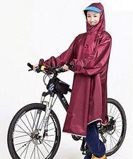 Vélo Cyclisme Cycle Imperméable Manteau de Pluie Imperméable Cape Poncho Rouge