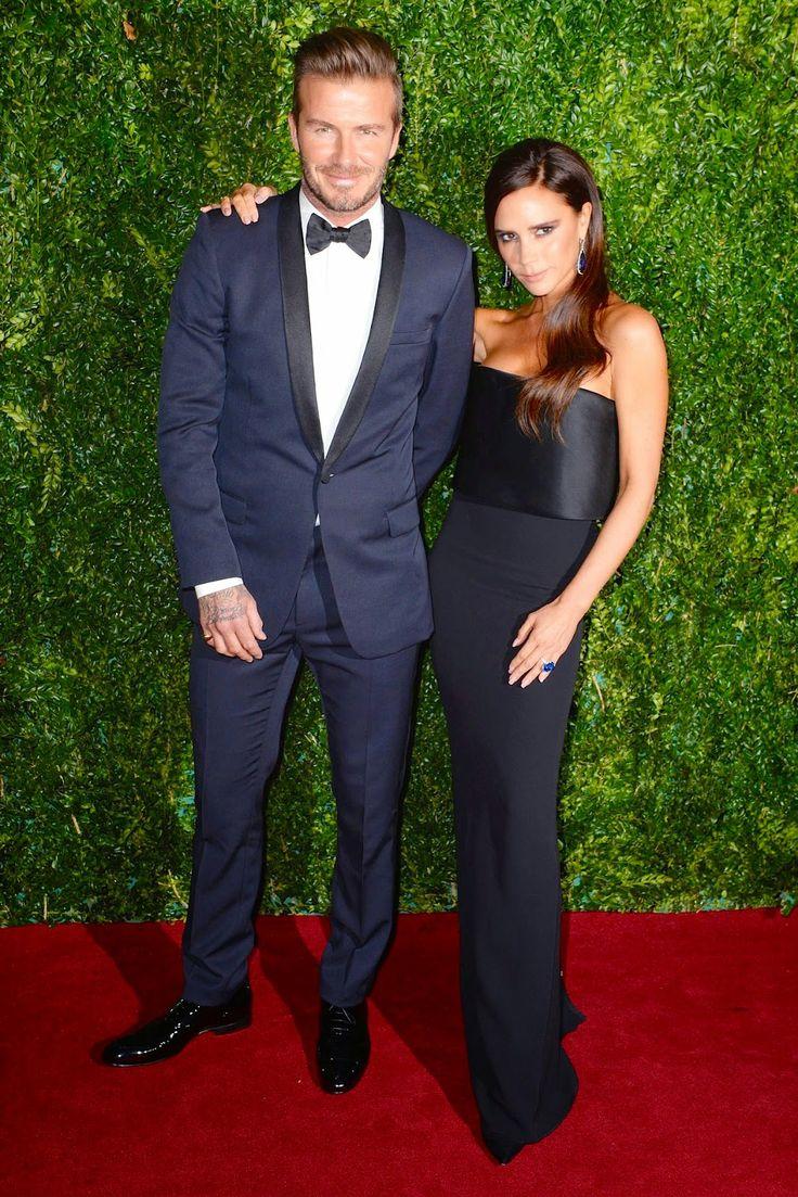 David Beckham in Dior Homme - #ESTheatreAwards http://www.whats-he-wearing.com/2014/12/david-beckham-wears-dior-homme-tuxedo-60th-evening-standard-theatre-awards-london.html