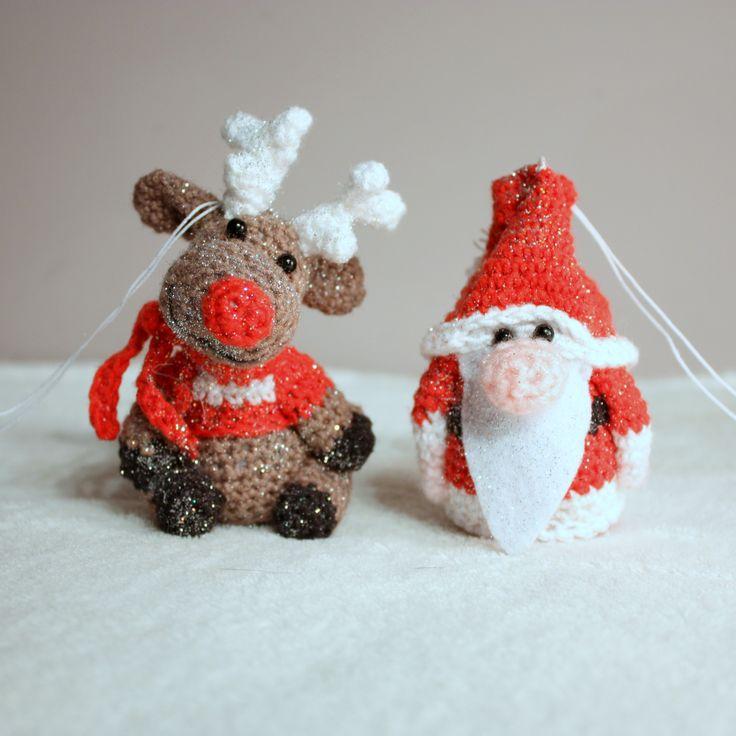 Amigurumi christmas ornaments  #amigurumis #amigurumi #ornaments #christmas #xmas #choinka #święta #szydełkowe #crochet #mikołaj #santa #claus #santaclaus #reindeer #bomka