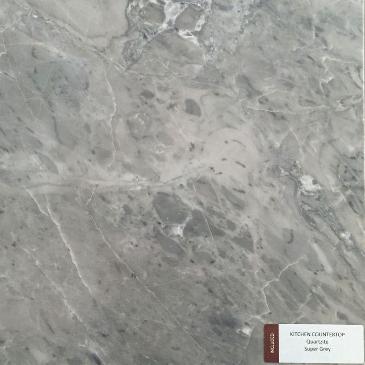 Included Kitchen Countertop - Super Grey - Quartzite