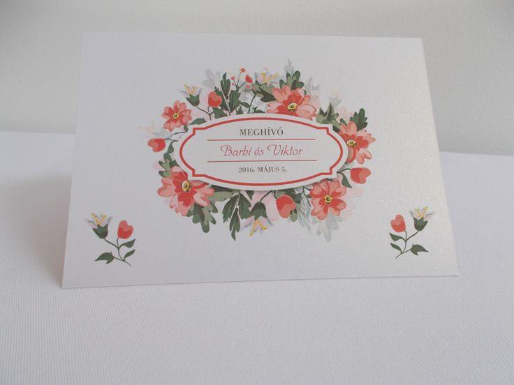 vintage esküvői meghívó 04.1