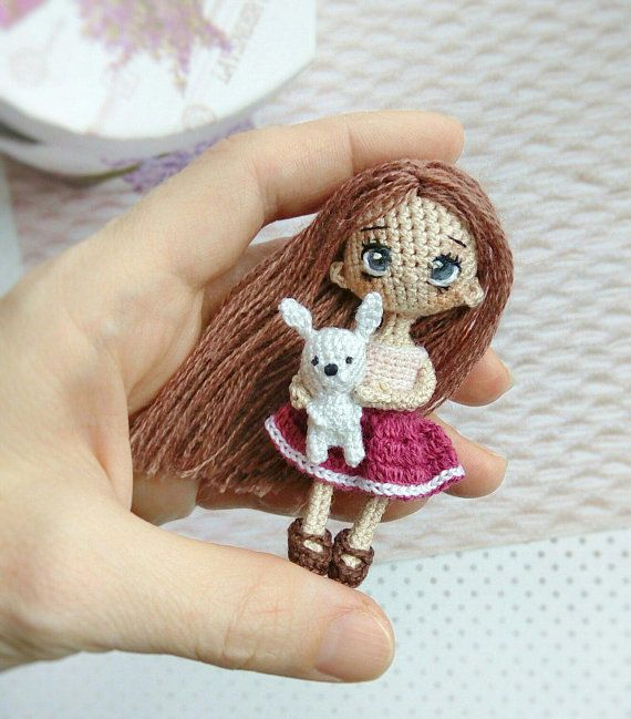Tiny crochet doll amigurumi pattern | Crochet doll pattern ... | 649x570