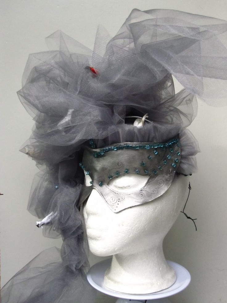 Wizard of Oz Tornado Leather and Tulle Venetian Carnivale Mask