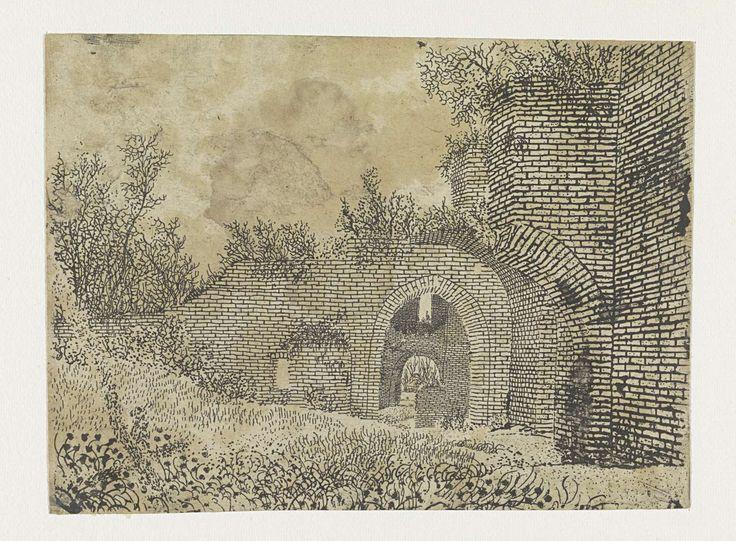 Ruïne van kasteel Brederode, Hercules Segers, ca. 1615 - ca. 1630