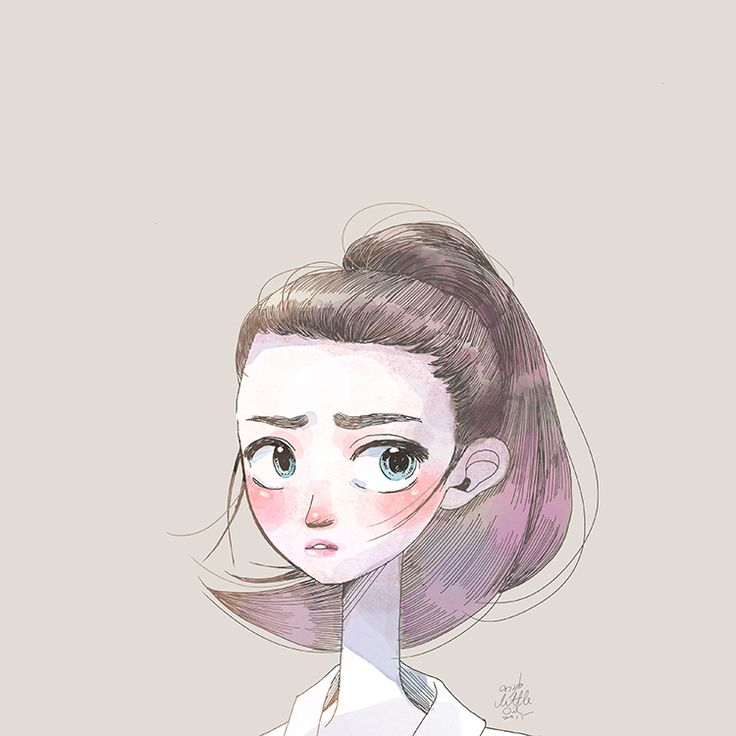 #short Hair #girl #illustration #art #beautiful