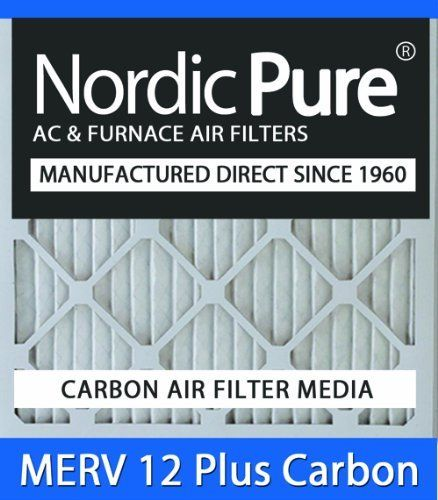 10x20x2 Nordic Pure MERV 12 Plus Carbon Air Filters Qty 6 by Nordic Pure. $104.00. MERV 12 Plus Carbon Air Filter- Dual Media in one convenient air filter!. 30-day Money-Back Satisfaction Guarantee!. Carbon Air Filter deodorizes and absorbs odor and household smells!. Free Shipping in the Continential USA!. Actual Size of Filter: 9 1/2 x 19 1/2 x 1¾. Nordic Pure is now offering MERV Plus Carbon air filters. The electrostatic MERV Plus Carbon air conditioning ...