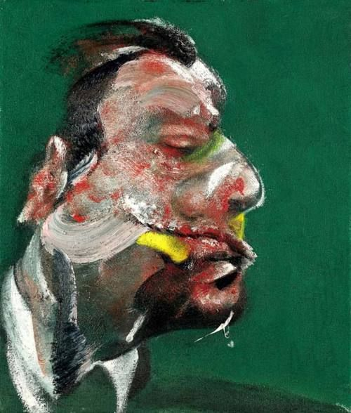 Study for Head of George Dyer - Francis Bacon, 1967