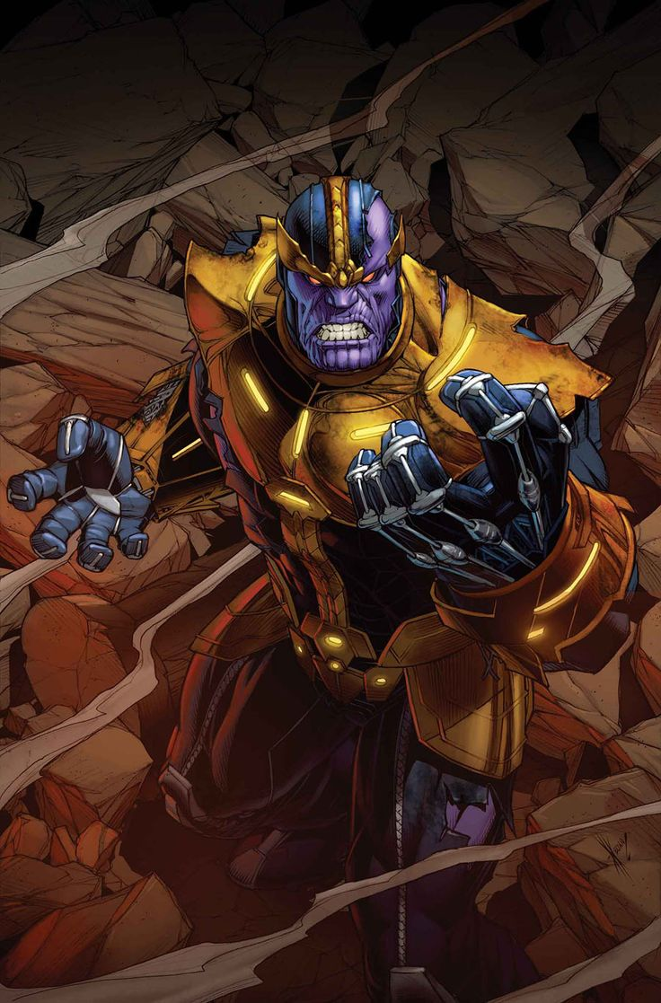 Thanos by Dale Keown  If you haven't read Thanos' backstory, I would highly recommend it! He has an amazing story and is by far one of my favorites if not my favorite marvel character.