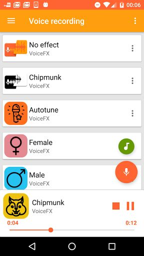 VoiceFX Voice Effects Changer v1.1.0b [Pro]   VoiceFX Voice Effects Changer v1.1.0b [Pro]Requirements:4.0 and upOverview:VoiceFX is a powerful app to transform your voice and your musics with audio effects.  You can also live playback your microphone with voice effects and ear people talking live with transformed voice. You can even stream your changed voice to your media players or web browsers.  Available audio effects: Chipmunk Autotune Female Male Kid Strong Double Mask Drunk Slow Fast…