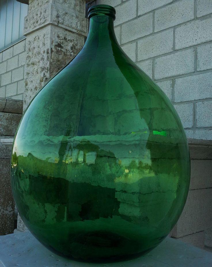 Antique-Italian-blown-glass-flagon-big-bottle-old-bottle-antique-demijohn di ItalianHistory su Etsy