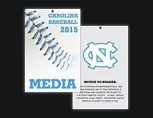 Victoria Price Graphic Design | UNC-CH Chapel Hill Tar Heels Rams 2015 Carolina Baseball Media Passes