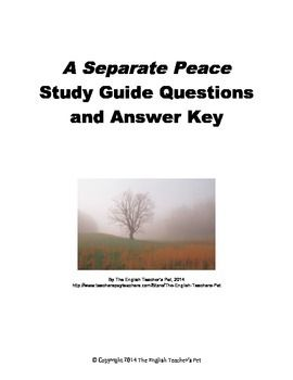 a separate peace contrasting gene and In the poem a poison tree, the speaker possesses anger, but deals with it in different ways depending on who it is directed towards, be they friend or foe in a separate peace, gene cannot discern whether or not finny is his friend or his foe.