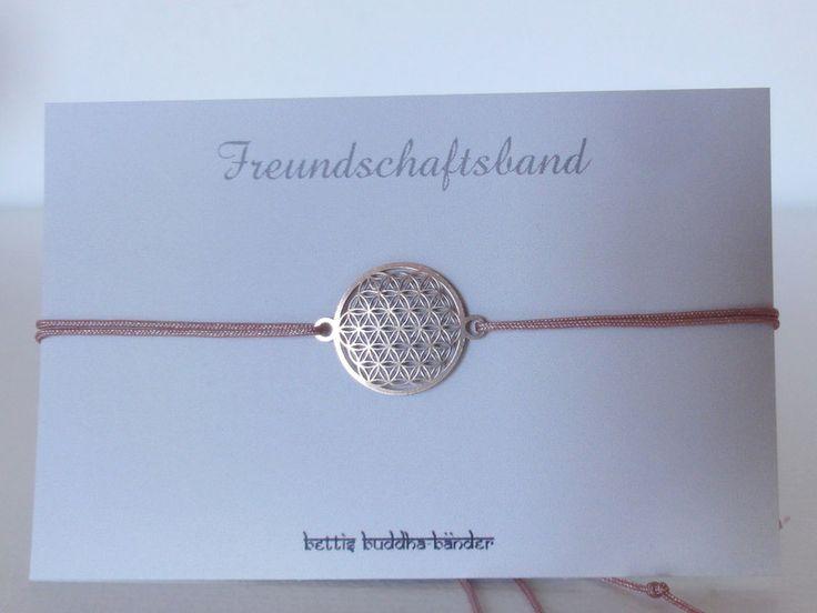 """Freundschaftsband """"Blume des Lebens"""" von Bettis Buddha-Bänder auf DaWanda.com"""