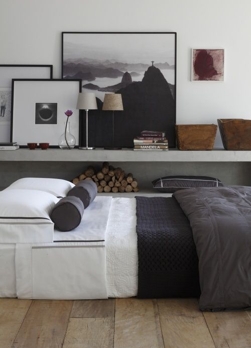 white grey brown in eclectic neutral bedroom design