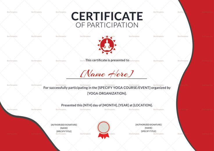 25 best Participation Certificates Templates images on Pinterest - participation certificate template