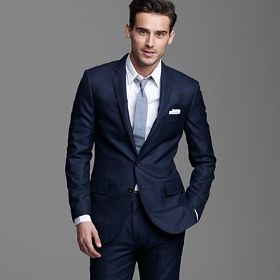 A nice navy modern suit.  This is just an example, not a brand endorsement.