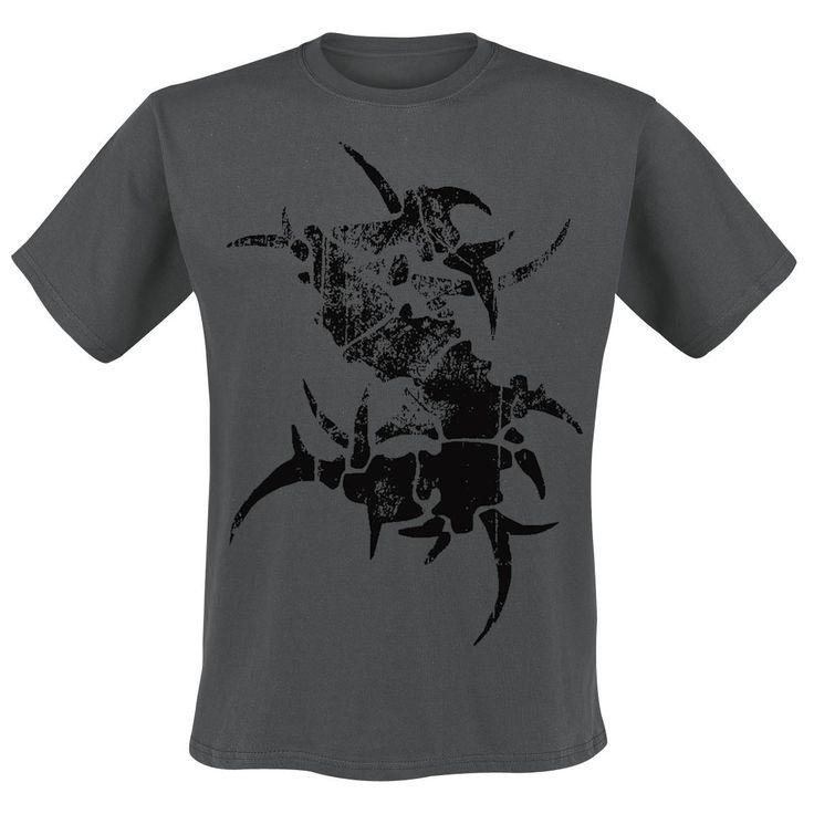 """Classica T-Shirt grigia """"Logo"""" dei #Sepultura con tipico logo della band, una S in stile tribale, stampato in nero sul davanti."""